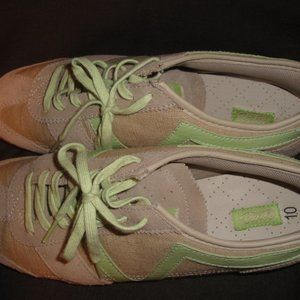 Vans Dabney Beige Lime Leather Sneakers Shoes 10